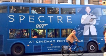 "Marketing de ""007 Contra SPECTRE"" já toma conta das ruas de Londres"