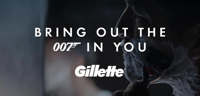 Gillette lança campanha inspirada em Ian Fleming
