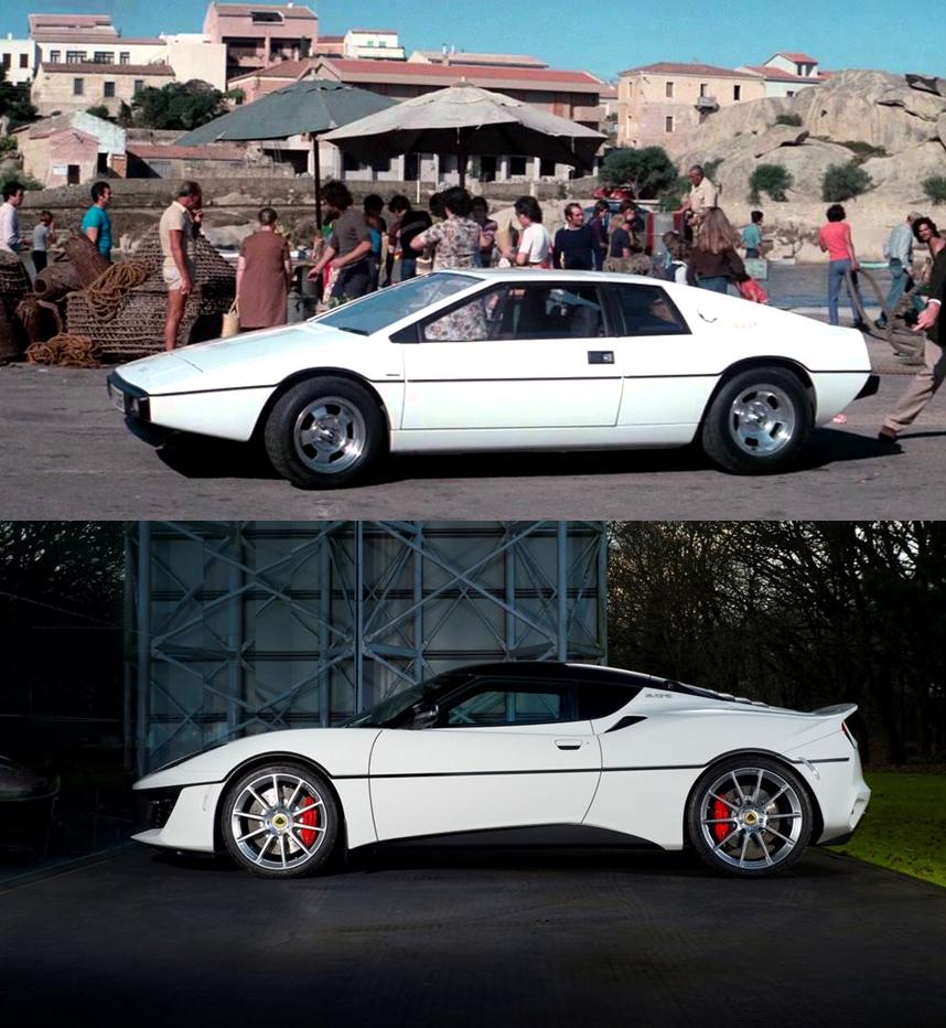 Comparativo entre o Lotus Esprit S1 e o Evora Sport 410 © Divulgação