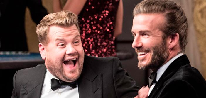 Em vídeo, David Beckham e James Corden disputam vaga de James Bond