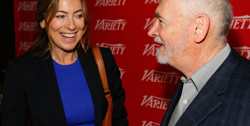 Kathryn Bigelow com o produtor Michael G. Wilson em 2013 © Getty Images North America