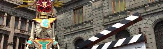 """Nova claquete destaca o início das filmagens de """"007 Contra SPECTRE"""" no México"""